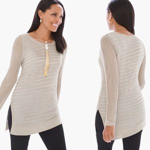 CHICOS Shine Detail Amelie Pullover Sweater